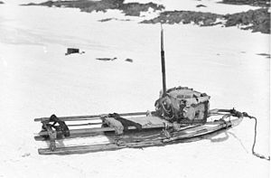 Far Eastern Party - Mawson's half sledge, which he used during the final stage of the journey