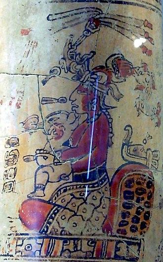Maya moon goddess - Image: Maya moon goddess from Sacul drinking vessel