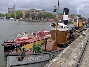 "Bristol Industrial Museum - Fireboat ""Pyronaut"" and steam tug ""Mayflower"""