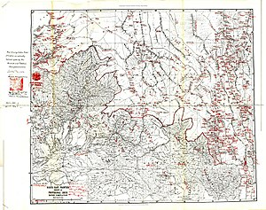 Simla Accord (1914) - Image: Mc Mahon Line Simla Accord Treaty 1914 Map 2