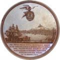 Medallion RestorationOfFerdinand IV KingOfNaples 1799 AdmiralNelsonAbove.png
