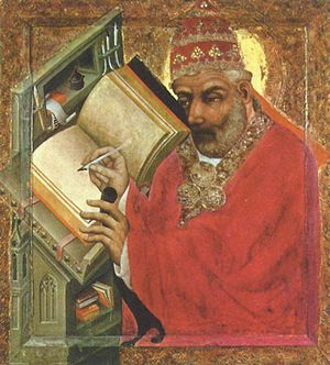 Czech art - Master Theoderic, Saint Gregory 1370, currently in the National Gallery in Prague