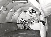 Mercury Astronauts in Weightless Flight on C-131 Aircraft - GPN-2002-000039