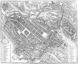 History of Silesia - Map of Wrocław/Breslau.