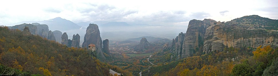 Meteora valley, Meteora, Greece