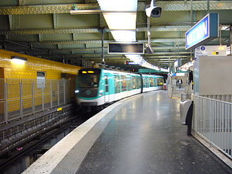 Nation (Paris Métro and RER) - Image: Metro Paris Ligne 2 Nation
