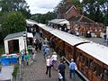 Metropolitan Railway coaches at the Bluebell Railway.JPG