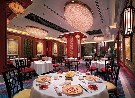 Interior design in a restaurant