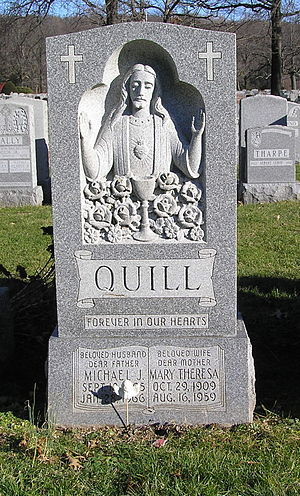 Mike Quill - Mike Quill's headstone in Gate of Heaven Cemetery