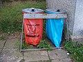 Milín-Buk, pytle na tříděný odpad.jpg