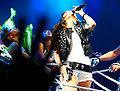 Miley Cyrus during the Wonder World concert in Detroit 2.jpg