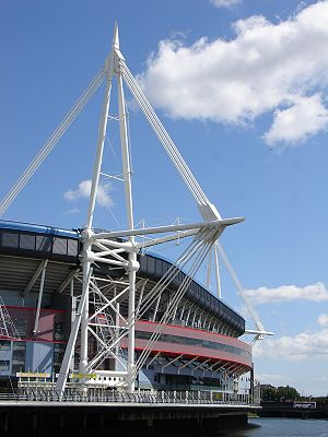 The Millennium Stadium, Cardiff (Welsh: Stadiw...