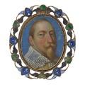 Miniatyrporträtt av Gustav II Adolf, 1630 cirka - Livrustkammaren - 98920.tif
