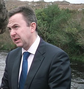 Minister Brian Hayes at Sneem River.JPG