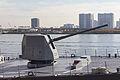 Mk45 5inch gun Mod4 on JDS DD-116 Teruzuki at Harumi-pier, Tokyo (2013 Dec 1) 21.jpg