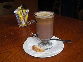 Caffè mocha - A mocha with a layer of espresso