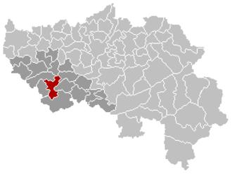Modave - Image: Modave Liège Belgium Map