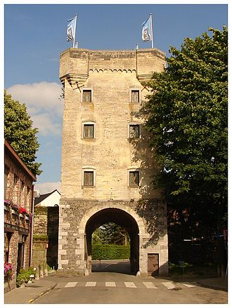 "Tongeren - The monumental ""Moerenpoort"", a gate in the medieval city-wall"