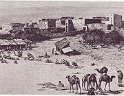 Market in Mogadishu around 1882.