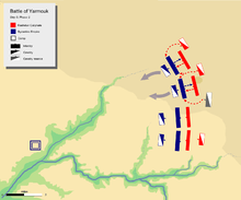 Day 3, Phase 2. showing khalid's attack on flank of Byzantine left center with his mobile guard.