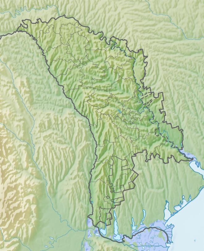 Moldova relief map