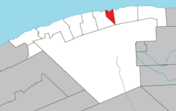 Location within La Haute-Gaspésie RCM.