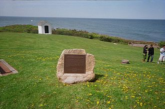 Fort Pond Bay - Amistad memorial at Montauk Point State Park on Long Island.