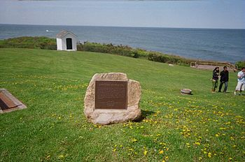 English: Memorial at for slaves on the Spanish...