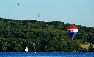 Regatta and Hot Air Balloon Festival at Morain...