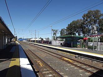 Morayfield railway station - Southbound view from Platform 1 in July 2012