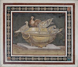"""Giuseppe Alessandro Furietti - The """"Dove Basin"""", attributed by Furietti to Sosius/Sosos  (Capitoline Museums)."""