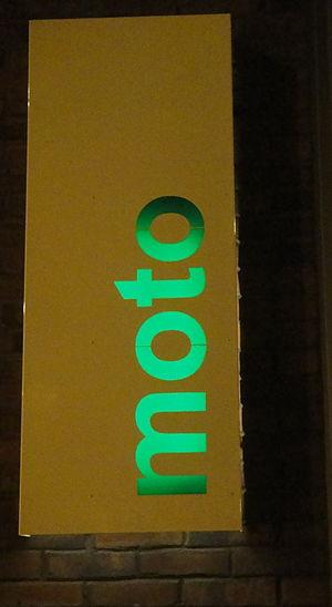 Moto (restaurant) - Sign outside Moto
