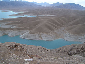 Mountains and river in Helmand Province of Afghanistan.jpg