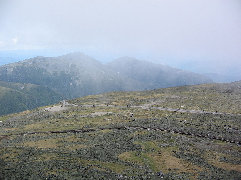 Mt Washington Auto Road at summit