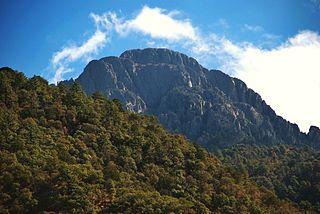 Mount Wrightson mountain in the Santa Rita Mountains in Santa Cruz County, Arizona, United States