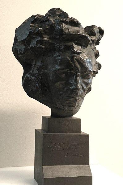 Buste en bronze de Beethoven, 1902, d'Antoine Bourdelle. Musée d'art moderne Malraux du Havre.