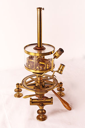 Johann Michael Ekling - Nobili multiplier (galvanometer with a double needle) by Ekling (1834)