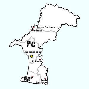 Elías Piña Province - Municipios and Municipal Distritos