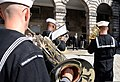 Musicians with the U.S. Naval Forces Europe Band perform a concert for David Wilson, the Lord Lieutenant and Lord Provost of the city of Edinburgh, Scotland, outside the city chambers building July 30, 2012 120730-N-VT117-838.jpg