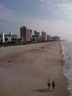 Grand Strand Coastal area in South Carolina, US