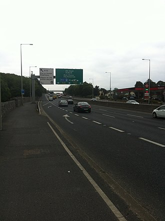 N4 road (Ireland) - The N4 at the conclusion of the Lucan Bypass.