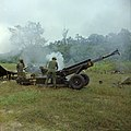 NARA 111-CCV-360-CC35502 1st Cavalry Division Artillery firing towed howitzer Operation Henry Clay 1966.jpg