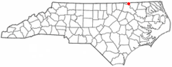 Location of Gaston, North Carolina