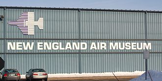 New England Air Museum - Front of the museum hangar