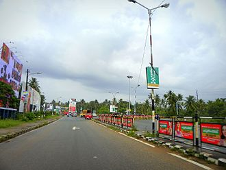 National Highway 66 (India) - Kollam Bypass (part of NH 66) at Mevaram, Kollam city