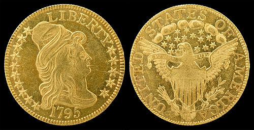 Obverse and reverse of a half eagle