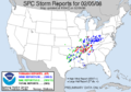 NOAA weather reports for February 5, 2008.png