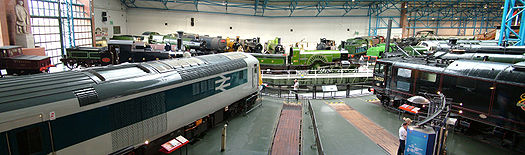 The Great Hall of the National Railway Museum, York.