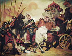 a vilifying portrayal of Nader Shah in the battle of Karnal by Adel Adili