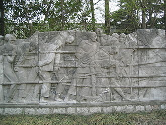 Memorial Hall of the Victims in Nanjing Massacre by Japanese Invaders - Image: Nanjing massacre low relief 1